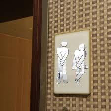 Male Female Bathroom Signs by Aliexpress Com Buy Funlife Bathroom Sign Wall Sticker Male