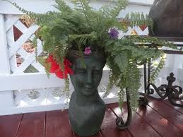 41 best stone head planters images on pinterest head planters