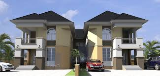 Pleasant Design 9 Twin Duplex House Plans In Nigeria Architectural Architectural Designs For Houses In Nigeria
