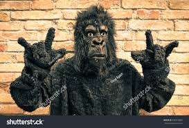 funny fake gorilla rock roll hand stock photo 255219085 shutterstock