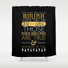 hufflepuff shower curtains society6