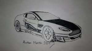 drawing aston martin db9 customised version pen sketch youtube