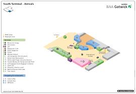 lgw airport map lgw terminal map