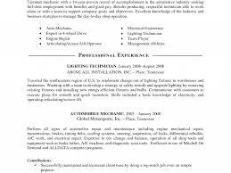 Auto Mechanic Resume Template 100 Mechanical Resume Best Diesel Mechanic Resume Example