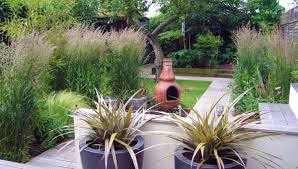 small garden with ornamental grasses outdoor small garden ideas