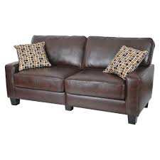 Leather Brown Sofas Serta Rta Palisades Collection 78 Sofa In Chestnut Brown
