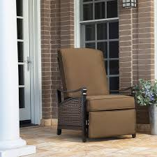 Outdoor Recliner Chairs La Z Boy Carson Luxury Outdoor Recliner Chair With Cushion