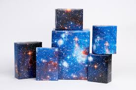royal blue wrapping paper galaxy print gift wrap royal blue