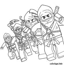 coloriage dessin ninjago 4 ninjas dessin à imprimer lego ferran