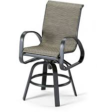 High Back Sling Patio Chairs by Sling Patio Counter Height Swivel Bar Arm Chair Ultimate Patio