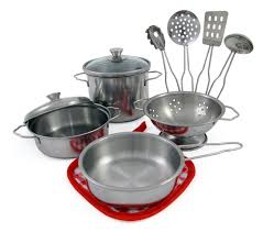 Metal Playsets Amazon Com Liberty Imports Metal Pots And Pans Kitchen Cookware