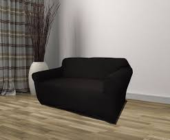 Recliner Couch Covers Black Jersey Sofa Stretch Slipcover Couch Cover Chair Loveseat