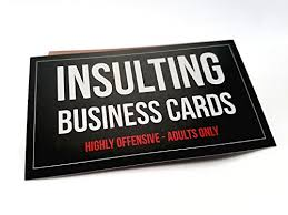offensive business cards offensive business cards color set of 50 with 10 import