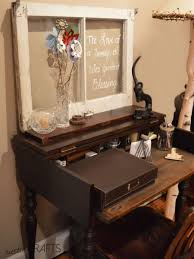 an antique writing desk for a small office space rustic crafts