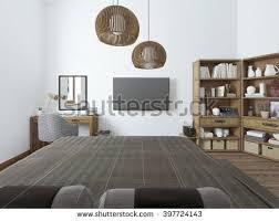Bedroom With Tv Bright Yellow Tv Unit Modern Living Stock Illustration 505153447