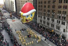 spongebob squarepants thanksgiving spectators flock to thanksgiving parade despite security fears