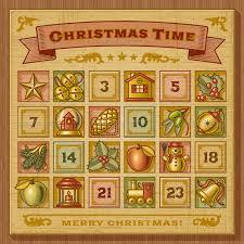 christmas advent calendar vintage christmas advent calendar by iatsun graphicriver