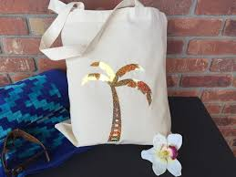 bridal shower gift bags personalized palm tree tote bags wedding gift bags bachelorette