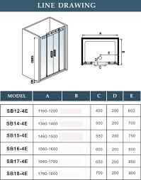 Standard Shower Door Sizes Shower Door Height Standard Doors Ideas