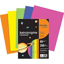 wausau paper astrobrights colored card stock staples