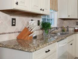 a granite with white cabinets remarkable home design