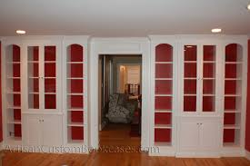 painting built in bookcases painted built in with glass doors artisan custom bookcases