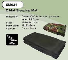 zip zap zooom highlander z army sleeping mat folding fold up