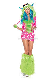melody monster animal rave halloween costumes with hat warmer