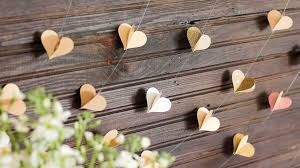 wedding backdrop garland diy paper heart garland wedding photo booth backdrop