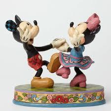 swinging sweethearts mickey and minnie dancing figurine jim