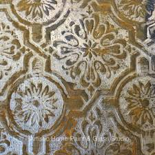 faux rustic tin tile created with textured paintable wallpaper