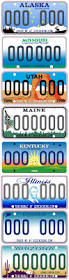 License Plate Usa Map by 141 Best License Plates Images On Pinterest License Plates