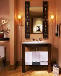 Decorating Powder Rooms Single Wash Basin Toilet Mirror Decorated Small Powder Room