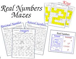 rational number maze integers naturals 3 worksheets review