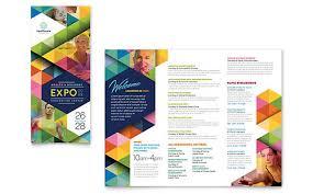 tri fold brochure template publisher business events tri fold