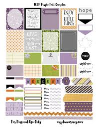 erin condren life planner free printable stickers free printable purple fall sler for the erin condren life planner