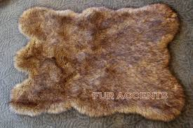 Calf Skin Rug Floor Furry Carpet Faux Fur Rugs White Faux Fur Rug 8x10