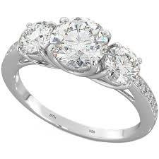 ladies rings jewellery images Sterling silver 3 stone cubic zirconia ring jpg