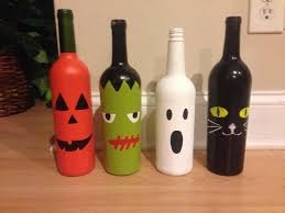 wine bottle halloween craft project fall pinterest bottle