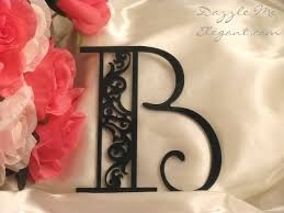 b cake topper monogram cake toppers affordable wedding cake toppers