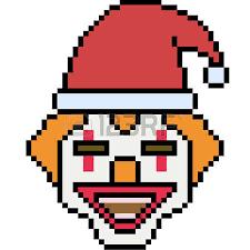 clown graphics 89 clown graphics backgrounds vector pixel santa clown on white background vector