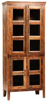 rustic wood display cabinet reclaimed wood display cabinet with glass old rustic wood with aged