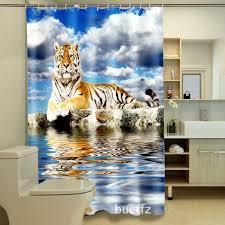 White Tiger Shower Curtain Online Get Cheap Bathroom Curtain Tiger Aliexpress Com Alibaba