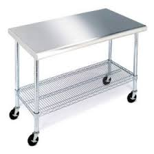 sam u0027s club member u0027s mark work table with stainless steel top 49