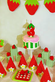 Strawberry Shortcake Birthday Cake And Dessert Table CakeCentral