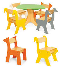 kids animal table and chairs cute kids furniture for your beloved little one design swan