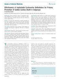 effectiveness of implantable cardioverter defibrillators for