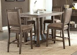 counter height gathering table rustic counter height dining table sets stone brook 5 piece