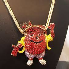 man accessories necklace images 50 off accessories kool aid man pendant chain colored diamonds jpg