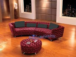 Red Curved Sofa modern line furniture commercial furniture custom made